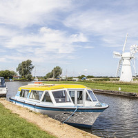 Buy canvas prints of Thurne Windpump, Norfolk by David Woodcock