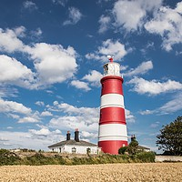 Buy canvas prints of Happisburgh Lighthouse, Norfolk by David Woodcock