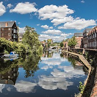 Buy canvas prints of River Wensum, Norwich by David Woodcock