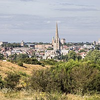 Buy canvas prints of Norwich, St James Hill by David Woodcock