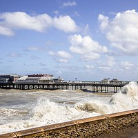Buy canvas prints of Cromer Pier, Norfolk by David Woodcock