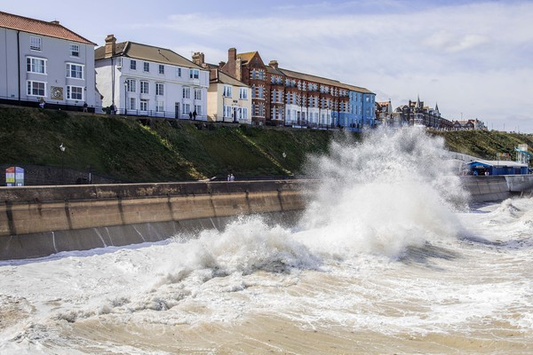 Cromer Seafront Canvas print by David Woodcock