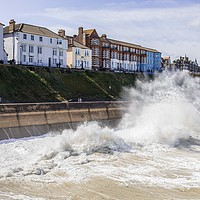 Buy canvas prints of Cromer Seafront by David Woodcock