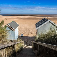 Buy canvas prints of Wells Next The Sea, Beach View by David Woodcock