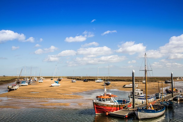 Harbour at Wells Next The Sea, Norfolk Print by David Woodcock