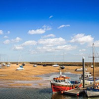 Buy canvas prints of Harbour at Wells Next The Sea, Norfolk by David Woodcock