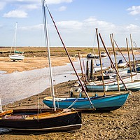 Buy canvas prints of Wells Next The Sea, Boats in the Harbour by David Woodcock