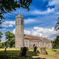 Buy canvas prints of Rollesby Church by David Woodcock