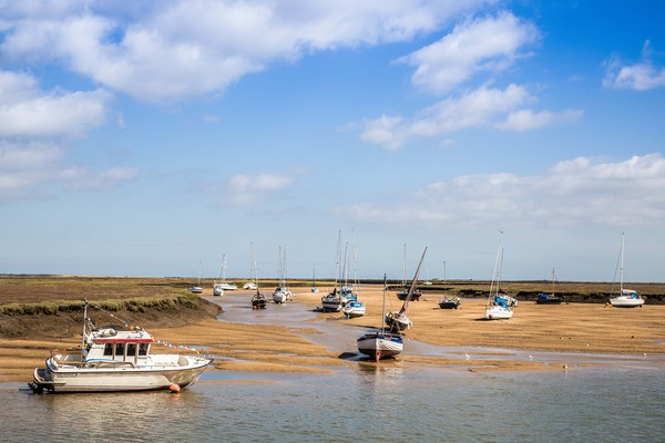 Wells Next The Sea, Harbour Canvas print by David Woodcock