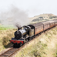 Buy canvas prints of GWR 7800 Class 7820 Dinmore Manor, Steam Train by David Woodcock