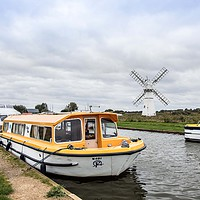 Buy canvas prints of Thurne Windpump by David Woodcock