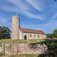 Buy canvas prints of All Saints Church, Frostenden by David Woodcock