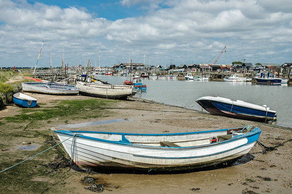 River Blyth, Southwold Canvas print by David Woodcock