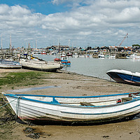 Buy canvas prints of River Blyth, Southwold by David Woodcock