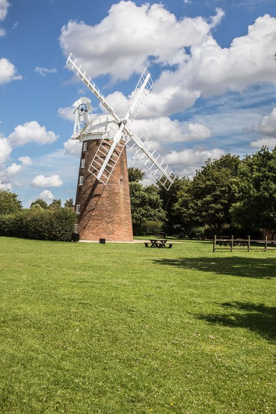 Windmill, Dereham Canvas print by David Woodcock