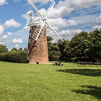 Buy canvas prints of Windmill, Dereham by David Woodcock