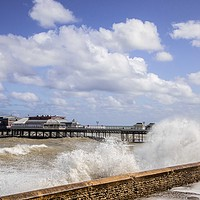 Buy canvas prints of Pier, Cromer by David Woodcock