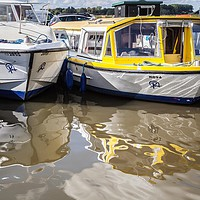 Buy canvas prints of Boats, Acle by David Woodcock