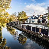 Buy canvas prints of Yacht Station, Norwich by David Woodcock