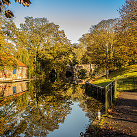 Buy canvas prints of Bishops Bridge, Norwich, Norfolk by David Woodcock