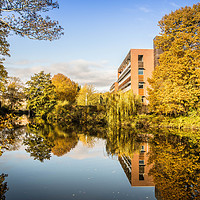Buy canvas prints of Kingfisher House, Norwich by David Woodcock