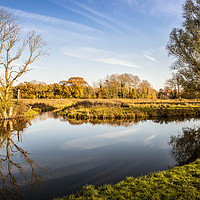 Buy canvas prints of River Bure, Horstead by David Woodcock