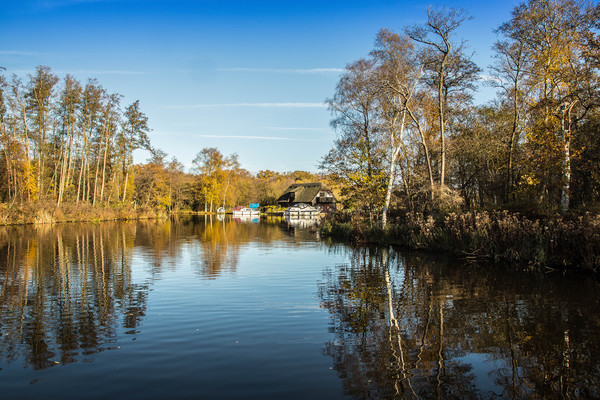 Barton Broad, Gayes Staithe Canvas print by David Woodcock