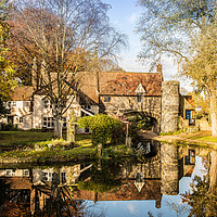 Buy canvas prints of Pulls Ferry, Norwich, Norfolk by David Woodcock