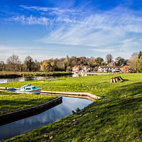 Buy canvas prints of Coltishall Common, Norfolk  by David Woodcock