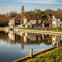 Buy canvas prints of River Bure, Coltishall, Norfolk by David Woodcock