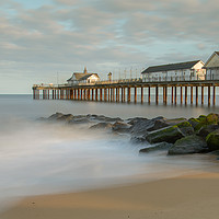 Buy canvas prints of Southwold Pier, Suffolk by David Woodcock