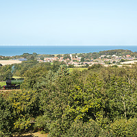 Buy canvas prints of Weybourne from Kelling Heath, Norfolk by David Woodcock