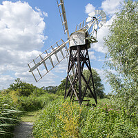 Buy canvas prints of Boardmans Mill, How Hill, Norfolk by David Woodcock
