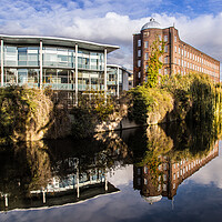 Buy canvas prints of St James Mill, Norwich by David Woodcock