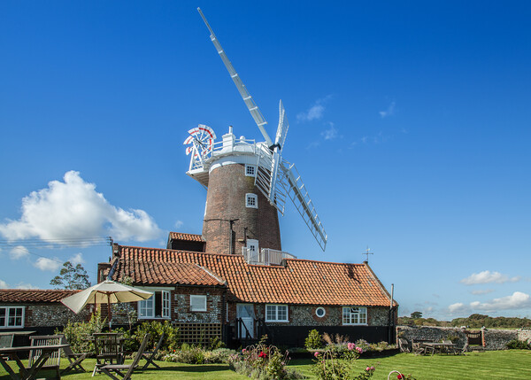 Cley Windmill, Norfolk Print by David Woodcock