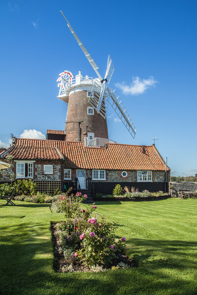 Cley Windmill, Norfolk Framed Mounted Print by David Woodcock