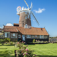 Buy canvas prints of Cley Windmill, Norfolk by David Woodcock