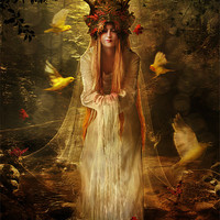 Buy canvas prints of Lady of the Forest by Celine B.