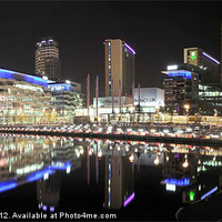 Buy canvas prints of SALFORD QUAYS by Shaun Dickinson