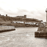 Buy canvas prints of Whitby Harbour by Andrew Rotherham