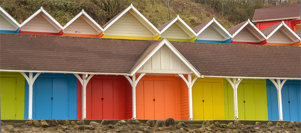 Beach Huts Canvas print by Andrew Rotherham
