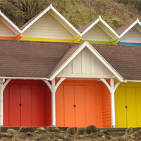 Buy canvas prints of Beach Huts by Andrew Rotherham