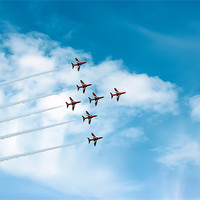 Buy canvas prints of The Red Arrows Display by Paul Madden