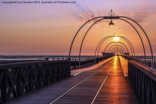 Southport Pier At Sunset Canvas print by Paul Madden