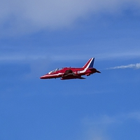 Buy canvas prints of Red Arrows Hawk by Paul Madden