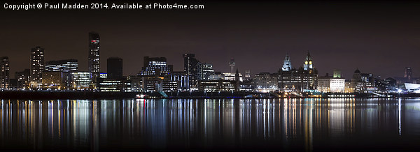 Liverpool Skyline Panoramic Canvas print by Paul Madden