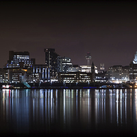 Buy canvas prints of Liverpool Skyline Panoramic by Paul Madden