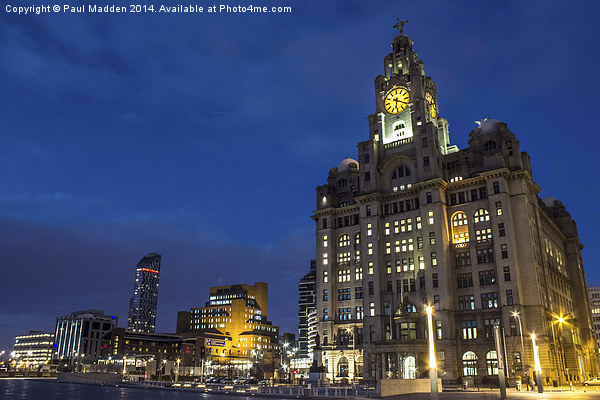 Liverpool Liver Building Canvas print by Paul Madden