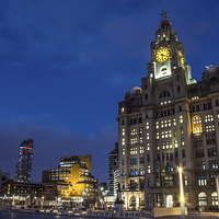 Buy canvas prints of Liverpool Liver Building by Paul Madden