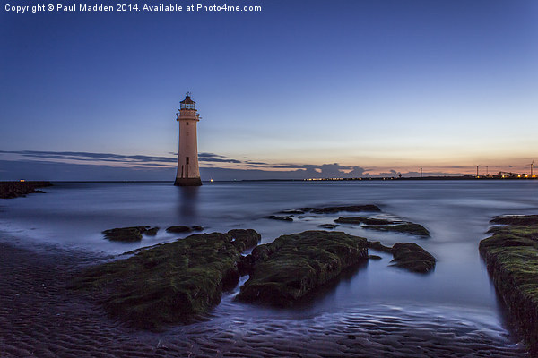 New Brighton Lighthouse Print by Paul Madden